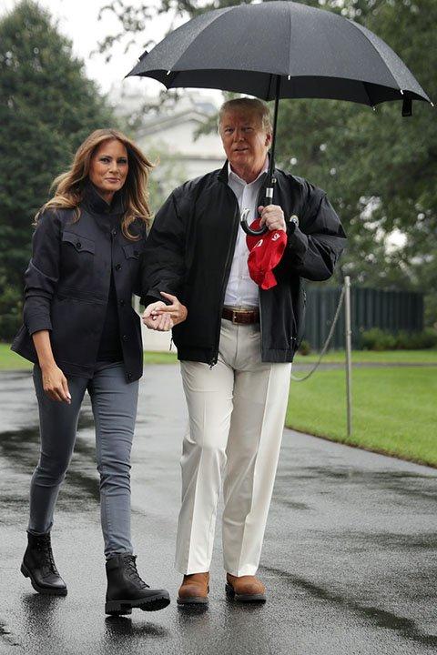 Меланья Трамп ботинки Timberland